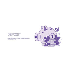 deposit banking and finance investment template vector image