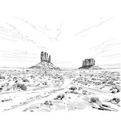 desert north america arizona chihuahuan vector image
