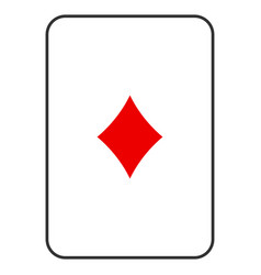 Diamonds suit playing card vector