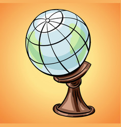 earth globe icon cartoon style vector image