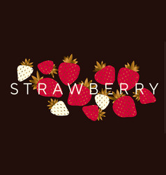 Elegant luxury strawberry design element vector