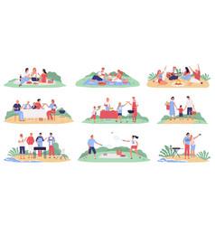 family picnic set vector image