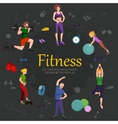 Fitness concept flat Isolated vector