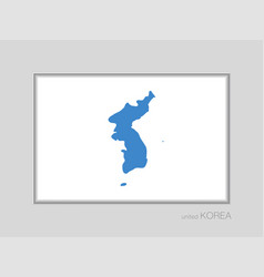 Flag of united korea national ensign aspect ratio vector