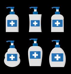 Flat hand sanitizer concept vector