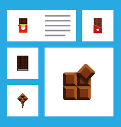 flat icon chocolate set of chocolate chocolate vector image