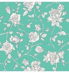 Floral Roses Background - Seamless Vintage Pattern vector
