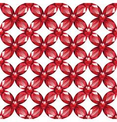 Flower Mesh rubies seamless texture vector image