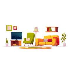 furniture for living room interior vector image