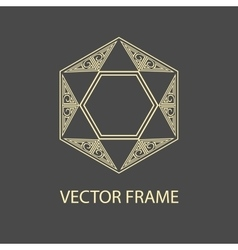 geometric linear style frame - art deco vector image