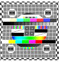 Glitch design - no signal tv screen vector