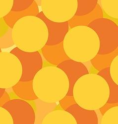 Golden circles seamless pattern vector image vector image