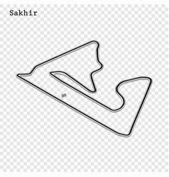 grand prix race track vector image