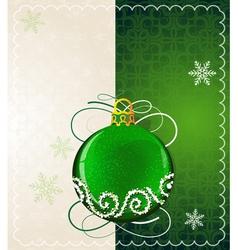Green christmas ball vector