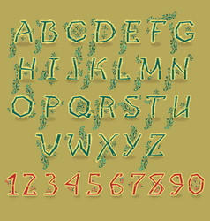 green country alphabet vector image