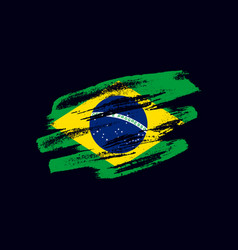 Grunge textured brazilian flag vector