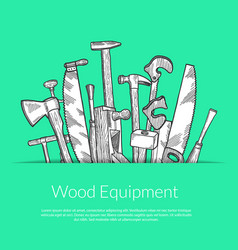 hand drawn woodwork elements vector image