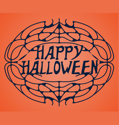 happy halloween greeting card happy halloween vector image