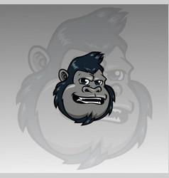 head gorilla mascot logo vector image