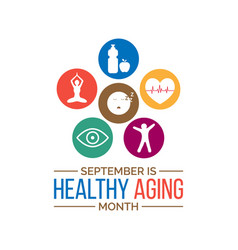 Healthy aging month vector