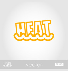 heat outline icon summer vacation vector image