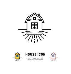 House icon village apartments symbol homestead vector