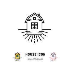 house icon village apartments symbol homestead vector image