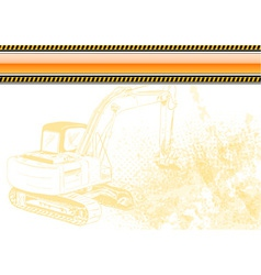 Industrial background with orange banner vector