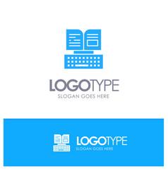 Key keyboard book facebook blue logo vector
