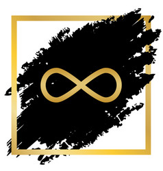 limitless symbol golden icon vector image