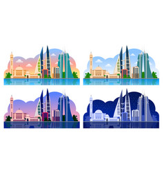 manama bahrain horizontal panoramic view vector image