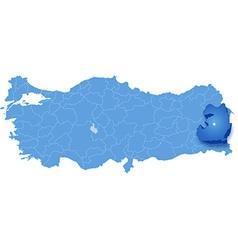 Map of Turkey Van vector