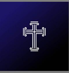 modern christian cross logo design vector image