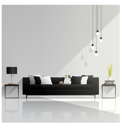 modern living room design interior background vector image