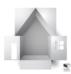 Paper box of an apartment house vector