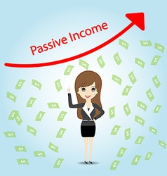 Passive Income and Financial Freedom Concep vector