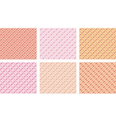 Patterned Background Set vector