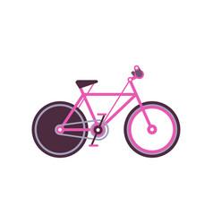 Pink touring bike modern bicycle vector