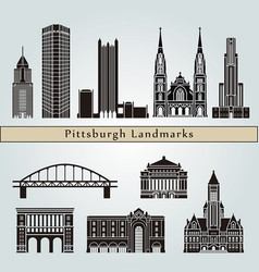 pittsburgh v2 landmarks vector image