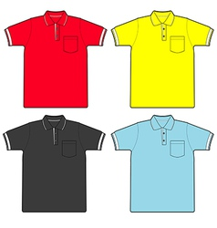 polo shirt vector image