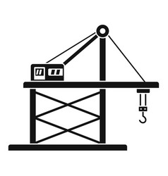 Port crane icon simple style vector