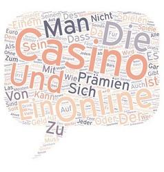 Pramien und Online Casinos text background vector