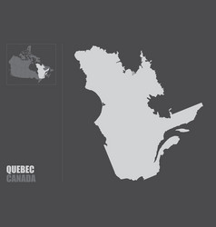 Quebec province map vector