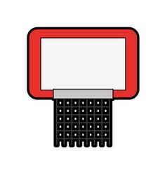 red basketball hoop vector image