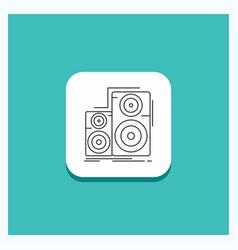 Round button for audio hifi monitor speaker vector