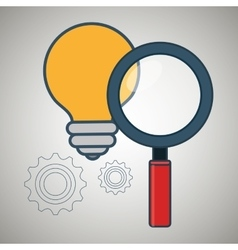 search idea creative icon vector image