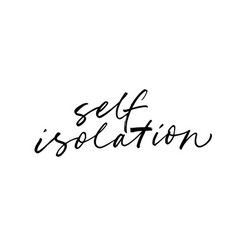 Self isolation lettering for quarantine vector