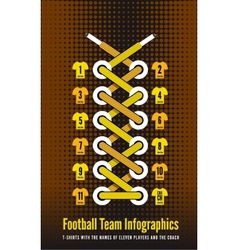 Shoelace as a football or soccer infographic vector image