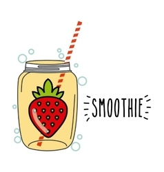 smoothie juice icon vector image