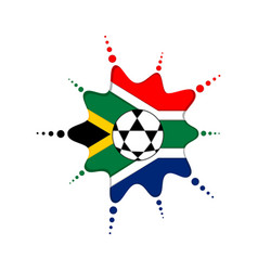 soccer ball on a south african emblem vector image